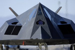 An F-117 Nighthawk taxis down the runway before its flight during the Holloman Air and Space Expo at Holloman Air Force Base, N.M., Oct. 27, 2007. (U.S. Air Force photo by Staff Sgt. Jason Colbert) (Released)